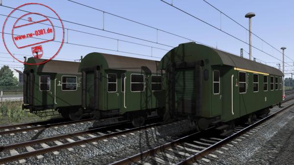 3D ZUG Bundesbahn Coaches (Umbau) AB3yg, B3yg & BD3yg