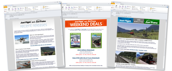 Examples of our newsletters and e-shots
