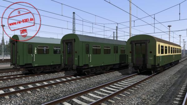3D ZUG DB Passenger Coaches Bghw & BDghw