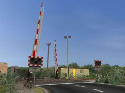 Animated level crossings