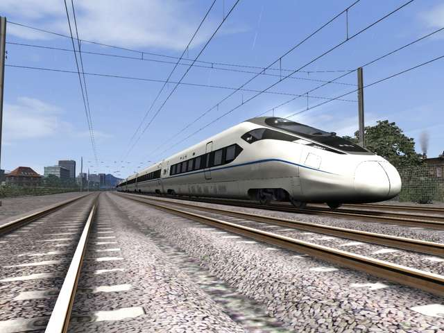 CRH380D High Speed Train and Chengdu-Suining Route Bundle Pack