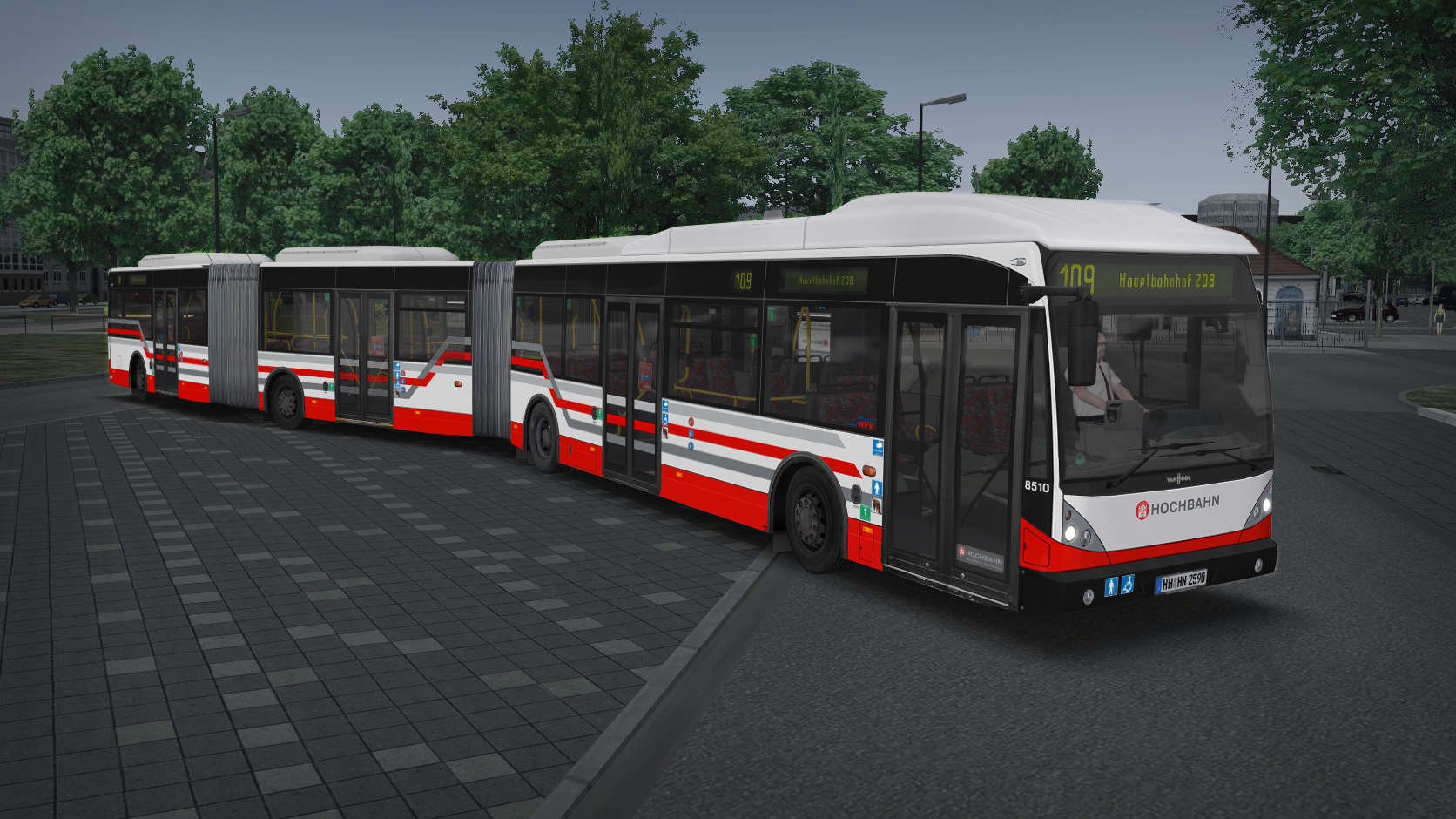 Just Trains - OMSI 2 Add-on - Bi-articulated Bus AGG 300
