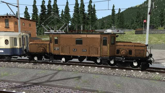 RhB Crocodile Train  Ge 6/6 I