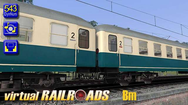 Virtual Railroads E18 and Passenger Carriages