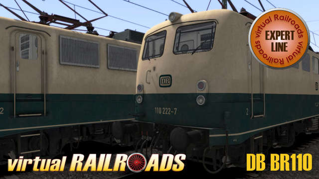Virtual Railroads DB BR110 Expert Line Blue-Beige