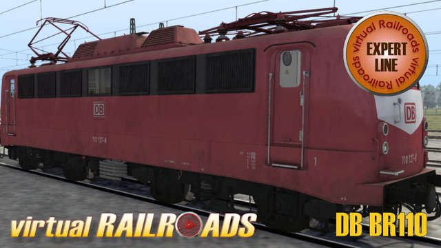 Virtual Railroads DB BR110 Expert Line Orient Red