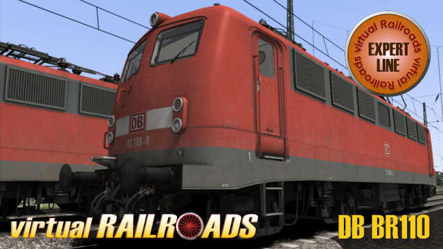 Virtual Railroads DB BR110 Expert Line Traffic Red