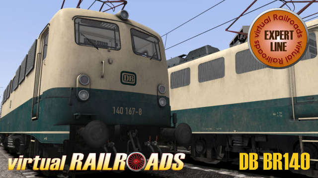 Virtual Railroads DB BR140 Expert Line Blue-Beige